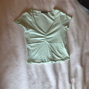 light green brandy melville top